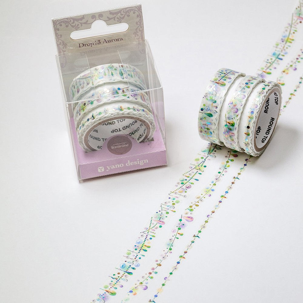 yano design - 箔押しマスキングテープ feminine Multi Masking Tape /Drop:3 Aurora
