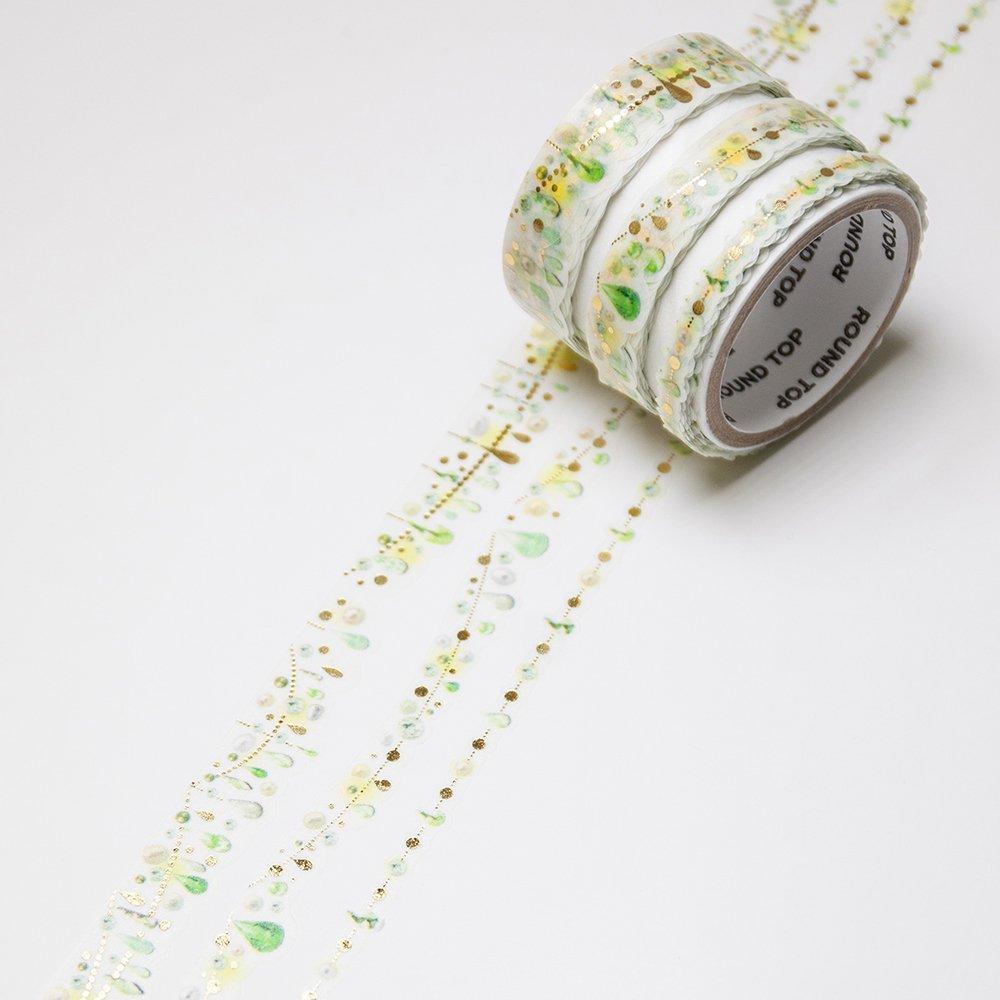 yano design - 箔押しマスキングテープ feminine Multi Masking Tape /Drop:3 Citrus