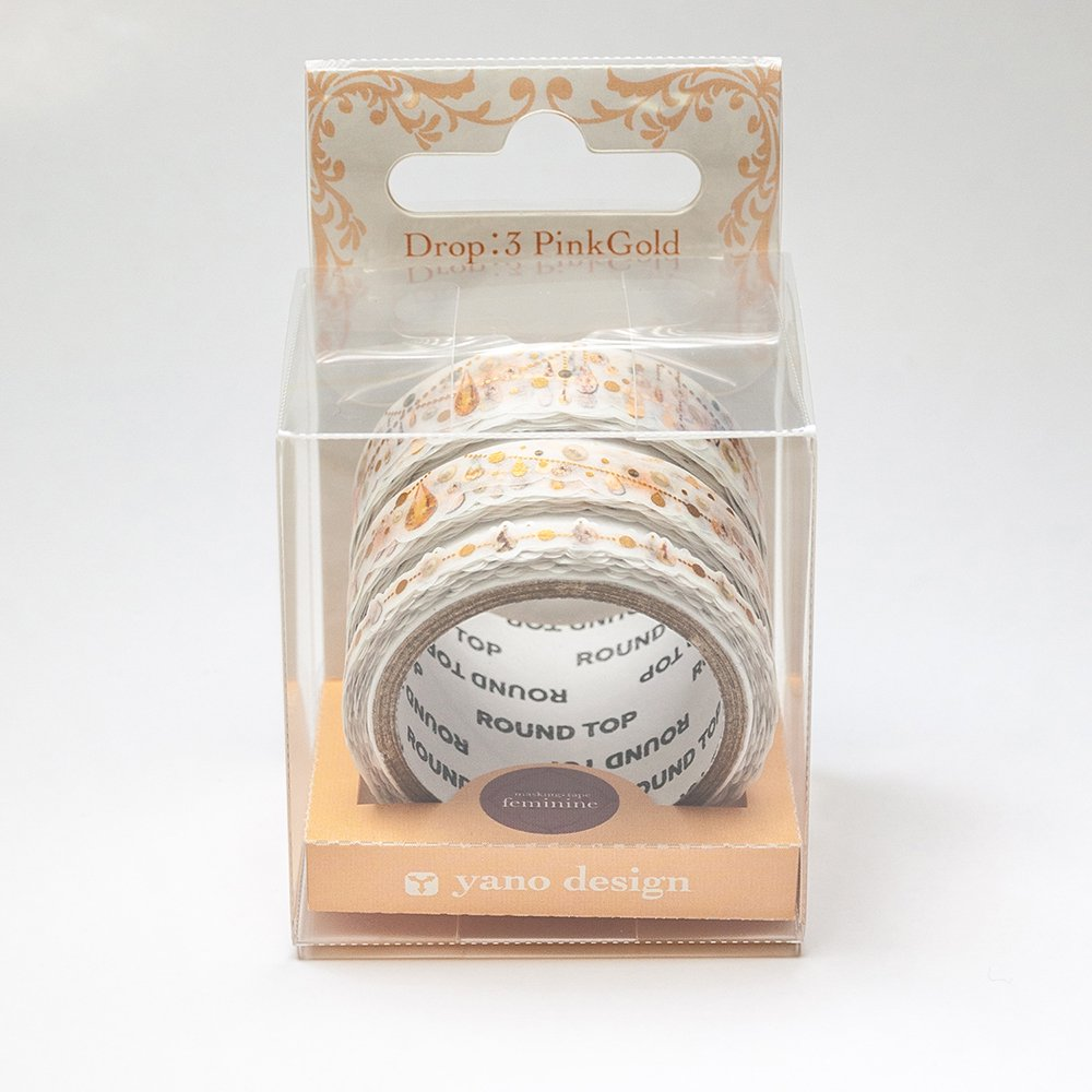 yano design - 箔押しマスキングテープ feminine Multi Masking Tape /Drop:3 PinkGold