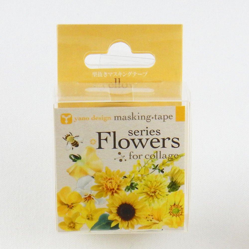 yano design - 型抜きマスキングテープ series Flowers for collage / yellow
