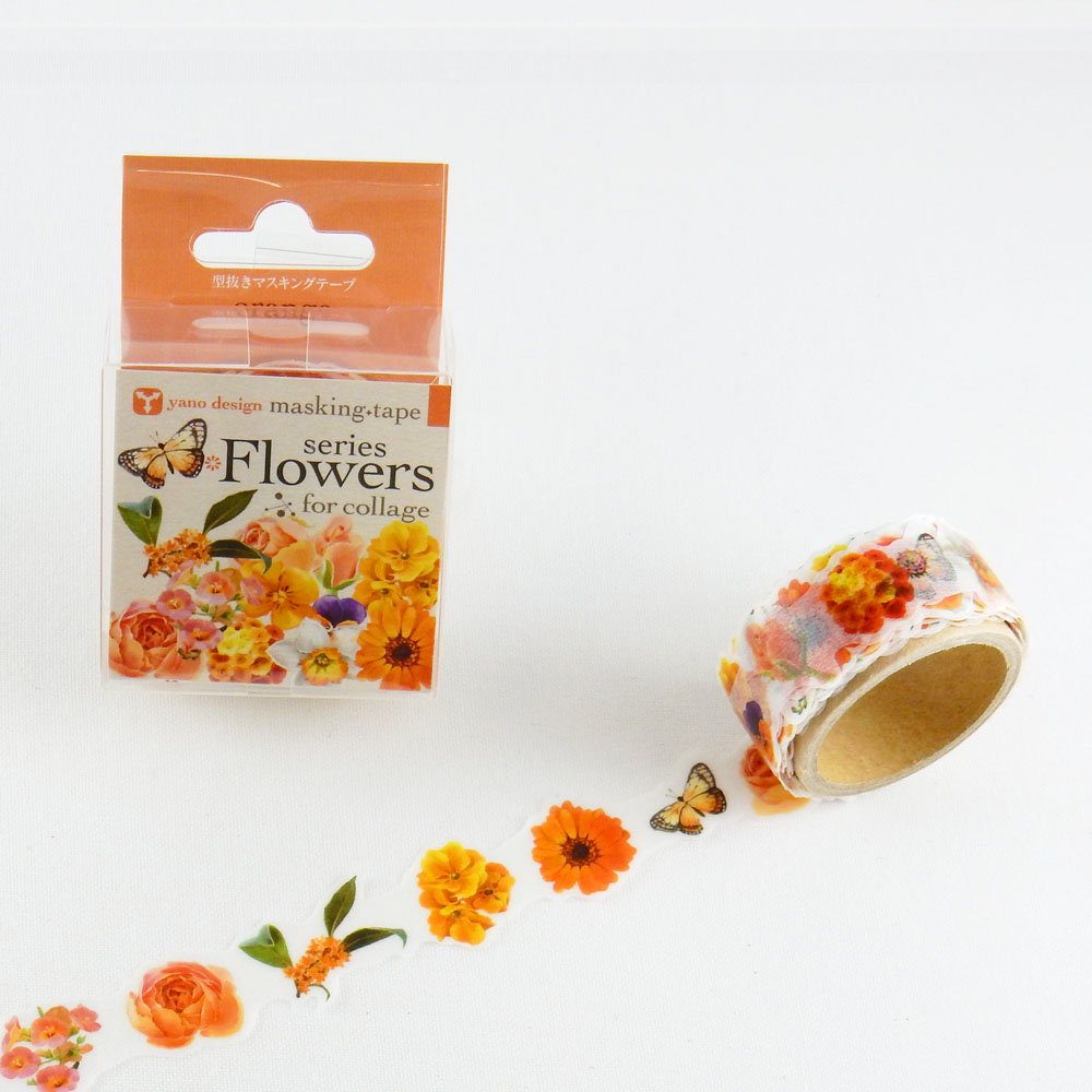 yano design - 型抜きマスキングテープ series Flowers for collage / orange