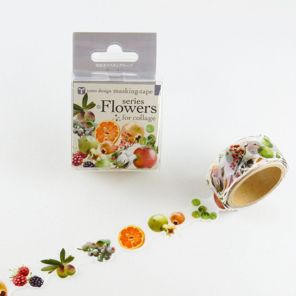 yano design - 型抜きマスキングテープ series Flowers for collage / fruit