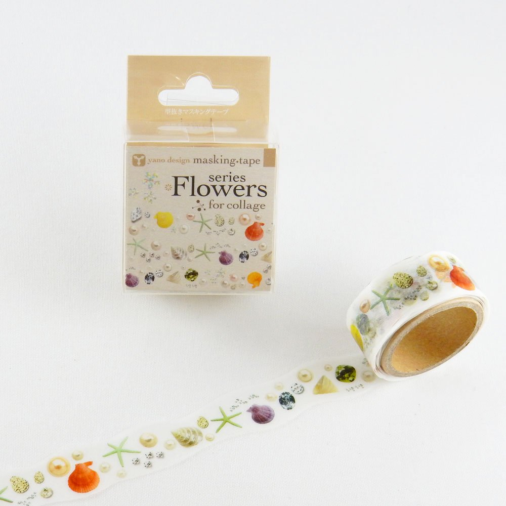 yano design - 型抜きマスキングテープ series Flowers for collage / jewel