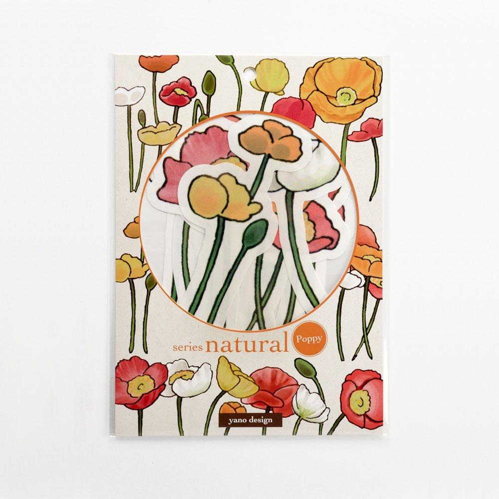 yano design - ウォールフレークステッカー series natural / Poppy