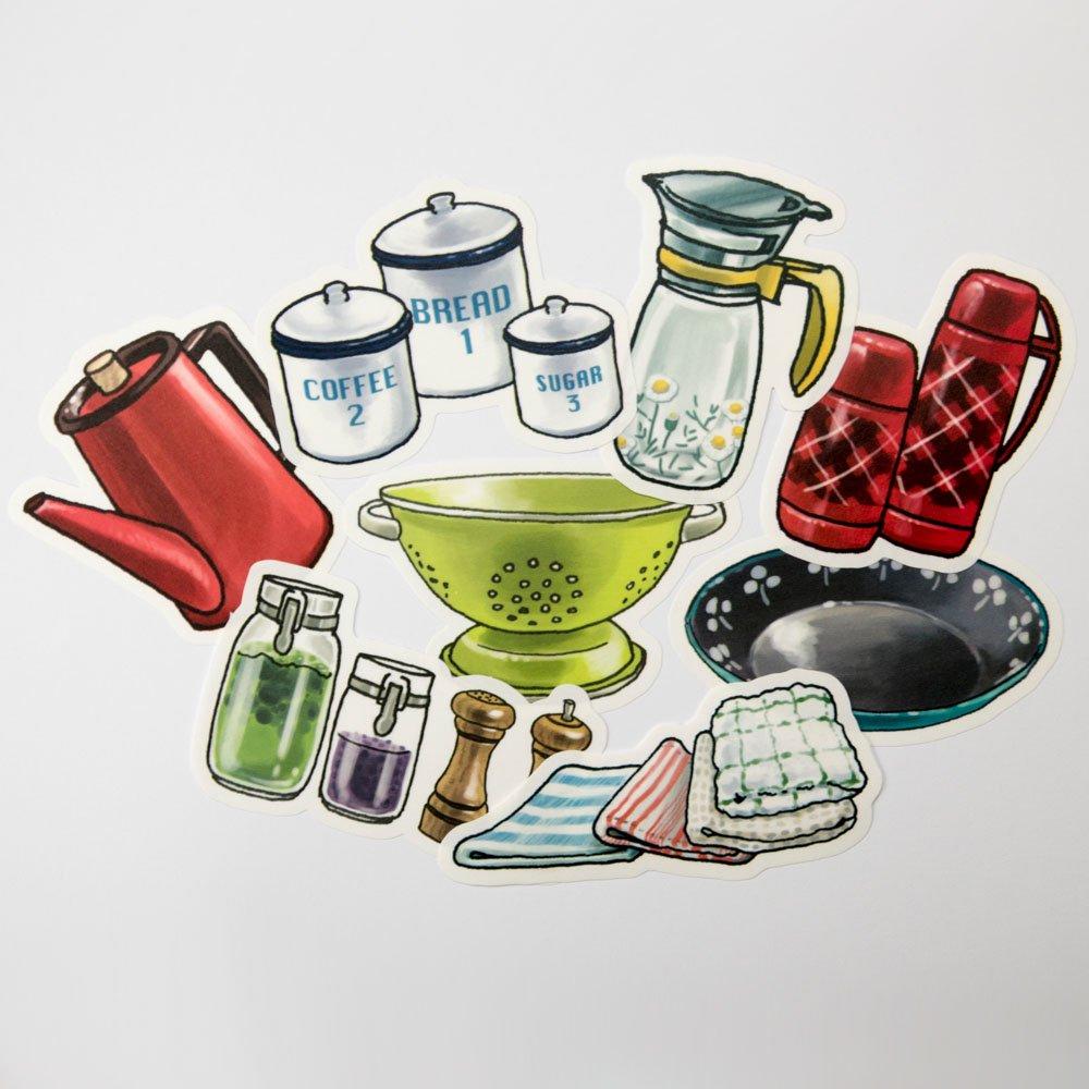 yano design - ウォールフレークステッカー series natural / Kitchen goods
