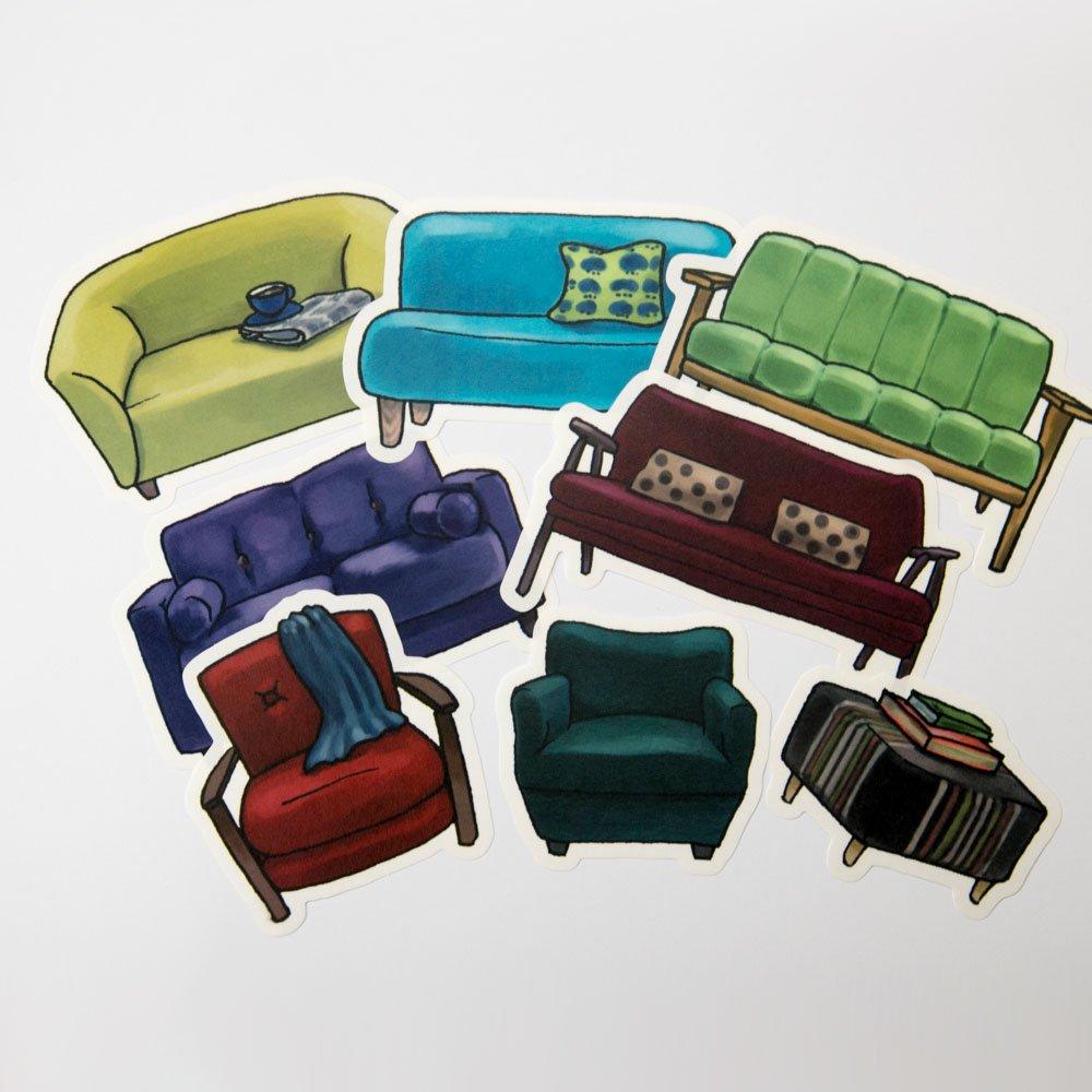 yano design - ウォールフレークステッカー series natural / Sofa