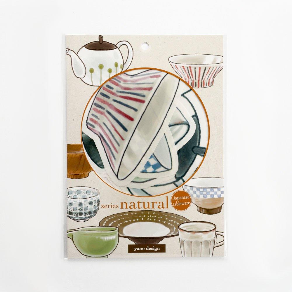 yano design - ウォールフレークステッカー series natural / Japanese tableware