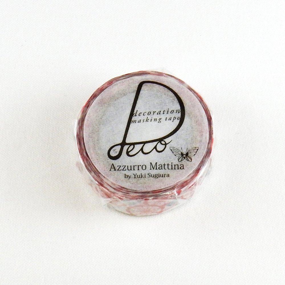 Azzurro Mattina - マスキングテープ / 花と宝石