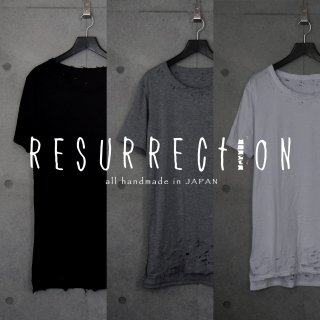 <img class='new_mark_img1' src='//img.shop-pro.jp/img/new/icons53.gif' style='border:none;display:inline;margin:0px;padding:0px;width:auto;' />RESURRECTION Hem damage Long Length T-shirt