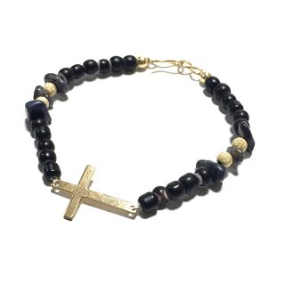 <img class='new_mark_img1' src='//img.shop-pro.jp/img/new/icons14.gif' style='border:none;display:inline;margin:0px;padding:0px;width:auto;' />FreeL THE ONLY Gold Cross & Beads Bracelet