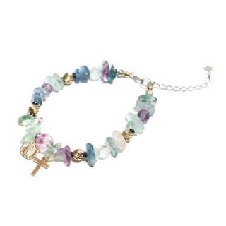 <img class='new_mark_img1' src='//img.shop-pro.jp/img/new/icons1.gif' style='border:none;display:inline;margin:0px;padding:0px;width:auto;' />KinCrossWorld Fluorite M/M Bracelet