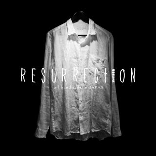 <img class='new_mark_img1' src='//img.shop-pro.jp/img/new/icons2.gif' style='border:none;display:inline;margin:0px;padding:0px;width:auto;' />RESURRECTION Position damage WHITE Shirt