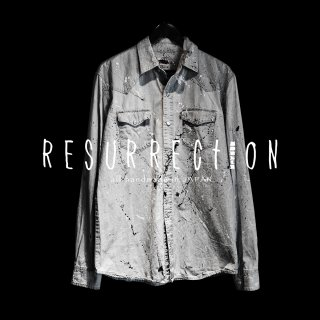 <img class='new_mark_img1' src='//img.shop-pro.jp/img/new/icons2.gif' style='border:none;display:inline;margin:0px;padding:0px;width:auto;' />RESURRECTION Intense paint denim shirt