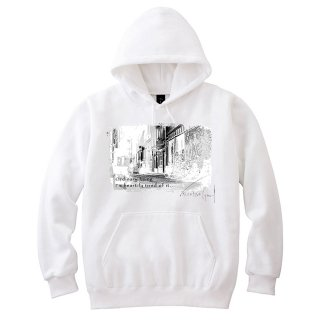 <img class='new_mark_img1' src='//img.shop-pro.jp/img/new/icons8.gif' style='border:none;display:inline;margin:0px;padding:0px;width:auto;' />IncentiveGreed Back street in New York Hoodie WHITE