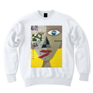 <img class='new_mark_img1' src='//img.shop-pro.jp/img/new/icons8.gif' style='border:none;display:inline;margin:0px;padding:0px;width:auto;' />IncentiveGreed Monster Monster Monster Sweat shirt WHITE