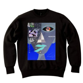 <img class='new_mark_img1' src='//img.shop-pro.jp/img/new/icons8.gif' style='border:none;display:inline;margin:0px;padding:0px;width:auto;' />IncentiveGreed Monster Monster Monster Sweat shirt BLACK