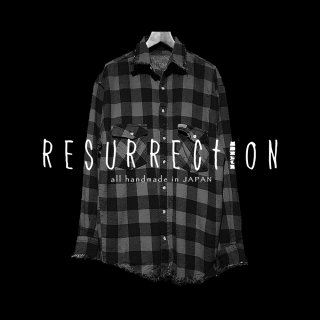 <img class='new_mark_img1' src='//img.shop-pro.jp/img/new/icons2.gif' style='border:none;display:inline;margin:0px;padding:0px;width:auto;' />RESURRECTION Damage Vintage RED check shirt