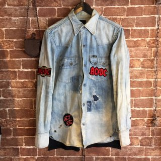 <img class='new_mark_img1' src='//img.shop-pro.jp/img/new/icons14.gif' style='border:none;display:inline;margin:0px;padding:0px;width:auto;' />FreeL THE ONLY Rock Remake Denim Shirt (ACDC)