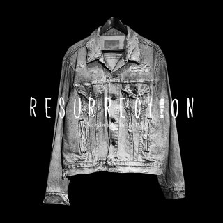 <img class='new_mark_img1' src='//img.shop-pro.jp/img/new/icons2.gif' style='border:none;display:inline;margin:0px;padding:0px;width:auto;' />RESURRECTION Aqute pain damage DENIM JACKET