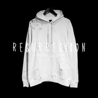 <img class='new_mark_img1' src='//img.shop-pro.jp/img/new/icons2.gif' style='border:none;display:inline;margin:0px;padding:0px;width:auto;' />RESURRECTION Damage Pullover parka WHITE