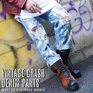 KinCrossWorld Vintage Crash Denim Pants