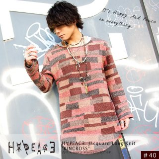 H∀PEAC∃ Jacquard Long Knit
