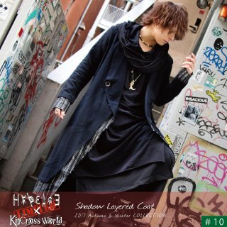 【H∀PEAC∃×KinCrossWorld】 Shadow Layered Coat【2周年LIMITED】