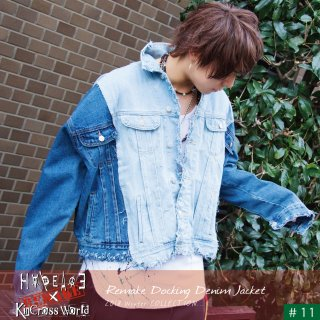 『H∀PEAC∃×KinCrossWorld』 Remake Docking Denim Jacket『LIMITED』