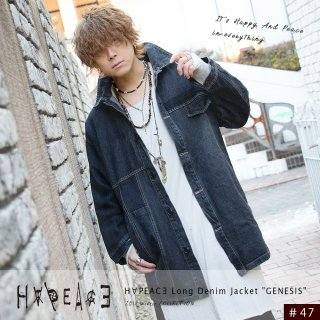 H∀PEAC∃ Long Denim Jacket