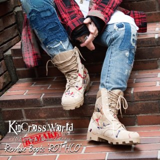 <img class='new_mark_img1' src='//img.shop-pro.jp/img/new/icons24.gif' style='border:none;display:inline;margin:0px;padding:0px;width:auto;' />【SUMMER SALE】KinCrossWorld Remake Boots