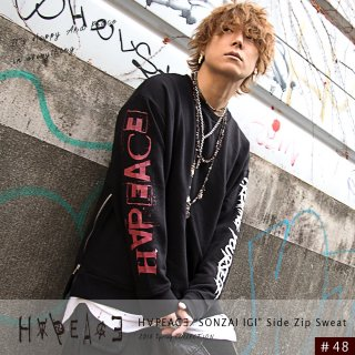 "H∀PEAC∃ ""SONZAI IGI"" Side Zip Sweat"