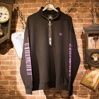 LINNE Barcode Logo Half Zip Sweat