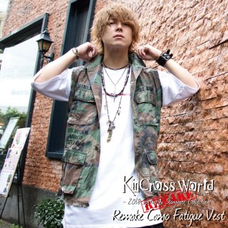 <img class='new_mark_img1' src='//img.shop-pro.jp/img/new/icons24.gif' style='border:none;display:inline;margin:0px;padding:0px;width:auto;' />【SUMMER SALE】KinCrossWorld  Remake Camo Fatigue Vest【10%OFF】