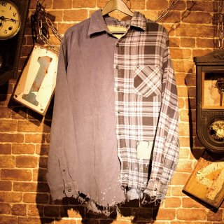 RESURRECTION Corduroy×BLUE Check Shirts
