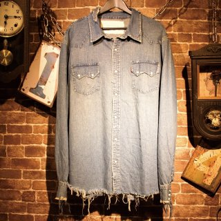 RESURRECTION Damage denim shirt