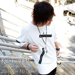 <img class='new_mark_img1' src='//img.shop-pro.jp/img/new/icons24.gif' style='border:none;display:inline;margin:0px;padding:0px;width:auto;' />【SUMMER SALE】 KinCrossWorld Zip Custom BIG T-Shirt【20%OFF】