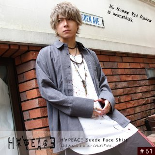 H∀PEAC∃ Suede Face Shirt