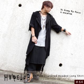 H∀PEAC∃ Layered Hooded Long Shirt