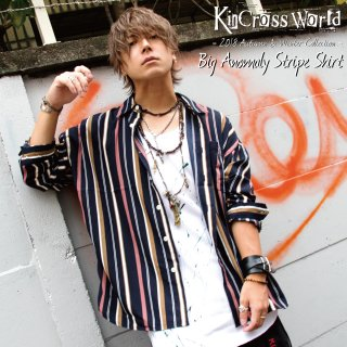 KinCrossWorld Big Anomaly Stripe Shirt