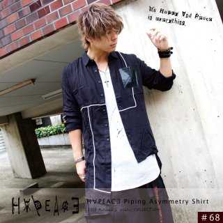 【9/22 22:00〜販売開始】H∀PEAC∃ Piping Asymmetry Shirt