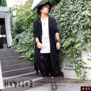 H∀PEAC∃ Hooded Shirt Gown