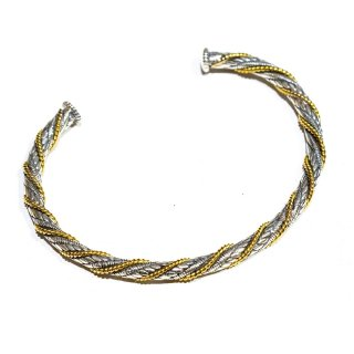 KinCrossWorld Gold Rope Bangle