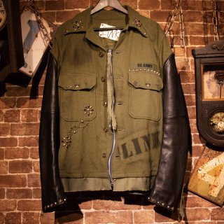 £iNK Studs Custom Wool Military Jacket