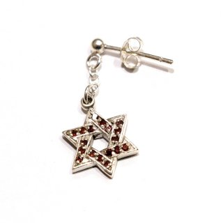 <img class='new_mark_img1' src='//img.shop-pro.jp/img/new/icons41.gif' style='border:none;display:inline;margin:0px;padding:0px;width:auto;' />【BIG SUMMER SALE】KinCrossWorld Silver Hexagram Pierce
