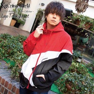 <img class='new_mark_img1' src='//img.shop-pro.jp/img/new/icons41.gif' style='border:none;display:inline;margin:0px;padding:0px;width:auto;' />【10%OFF】KinCrossWorld Logo Track Jacket