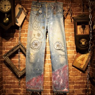 <img class='new_mark_img1' src='//img.shop-pro.jp/img/new/icons40.gif' style='border:none;display:inline;margin:0px;padding:0px;width:auto;' />【10%OFF】&#163;iNK Studs Custom Denim