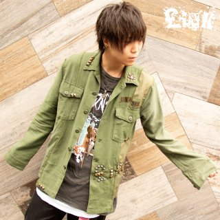 <img class='new_mark_img1' src='//img.shop-pro.jp/img/new/icons6.gif' style='border:none;display:inline;margin:0px;padding:0px;width:auto;' />【4/2 22:00〜販売開始】 £iNK Studs Custom Military Shirt