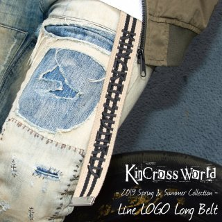 <img class='new_mark_img1' src='https://img.shop-pro.jp/img/new/icons20.gif' style='border:none;display:inline;margin:0px;padding:0px;width:auto;' /> KinCrossWorld Line LOGO Long Belt