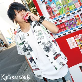 <img class='new_mark_img1' src='//img.shop-pro.jp/img/new/icons41.gif' style='border:none;display:inline;margin:0px;padding:0px;width:auto;' />【BIG SUMMER SALE】KinCrossWorld Pattern shirt