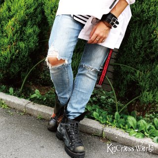 <img class='new_mark_img1' src='//img.shop-pro.jp/img/new/icons20.gif' style='border:none;display:inline;margin:0px;padding:0px;width:auto;' /> KinCrossWorld Crash Skinny Denim
